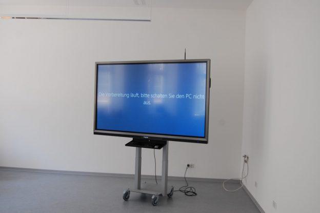 interaktive Tafel und Besuch vom Landrat