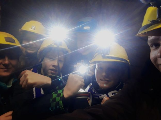 "Exkursion ins Bergwerk "" Am Sauberg"""